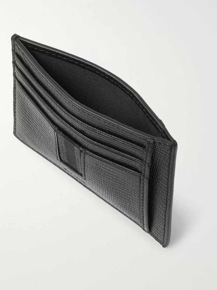 Hugo Boss Timeless Cross-Grain Leather Cardholder