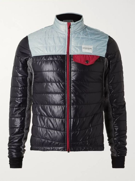Cafe du Cycliste Albertine Quilted Shell and Fleece Jacket