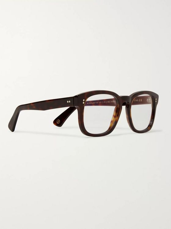 Kingsman + Cutler and Gross D-Frame Tortoiseshell Acetate Optical Glasses