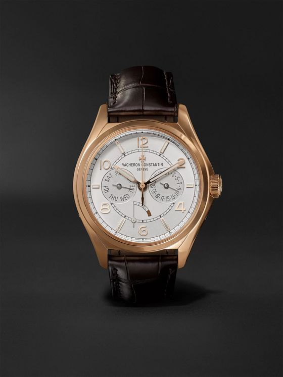 Vacheron Constantin Fiftysix Day-Date Automatic 40mm 18-Karat Pink Gold and Alligator Watch, Ref. No. 4400E/000R-B436