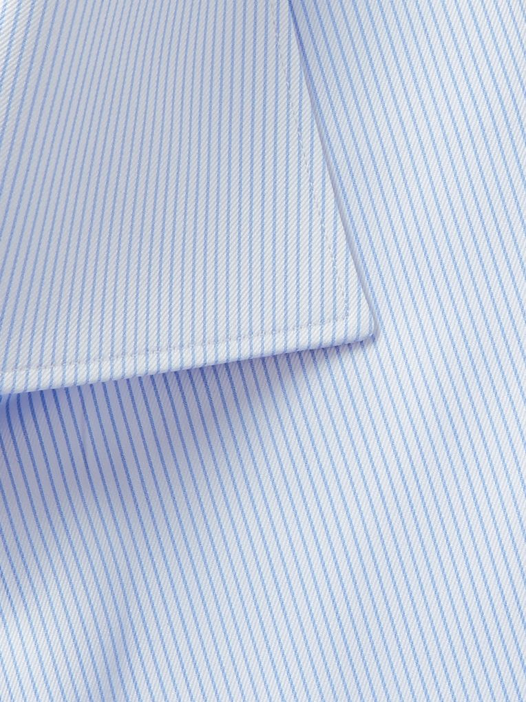 Brioni Light-Blue Pinstriped Cotton-Poplin Shirt