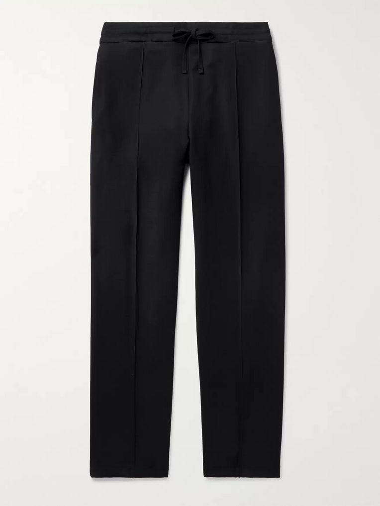 Dunhill Navy Wool-Twill Drawstring Trousers