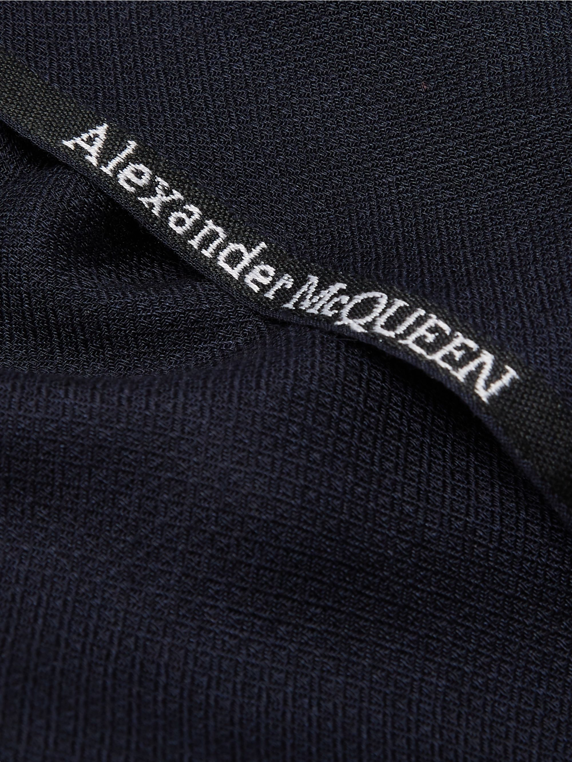 Alexander McQueen Logo-Embroidered Cashmere and Silk-Blend Jacquard Scarf