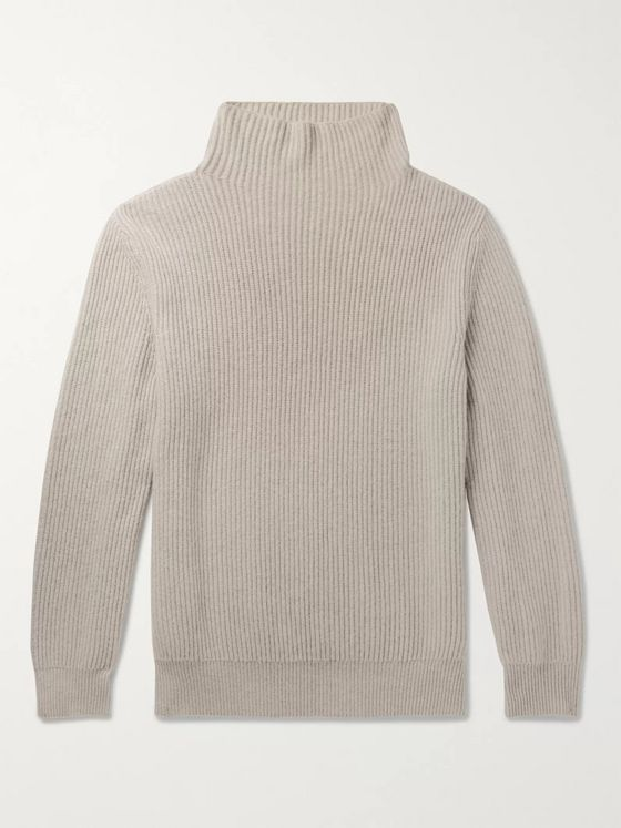 The Row Jackson Ribbed Cashmere Rollneck Sweater