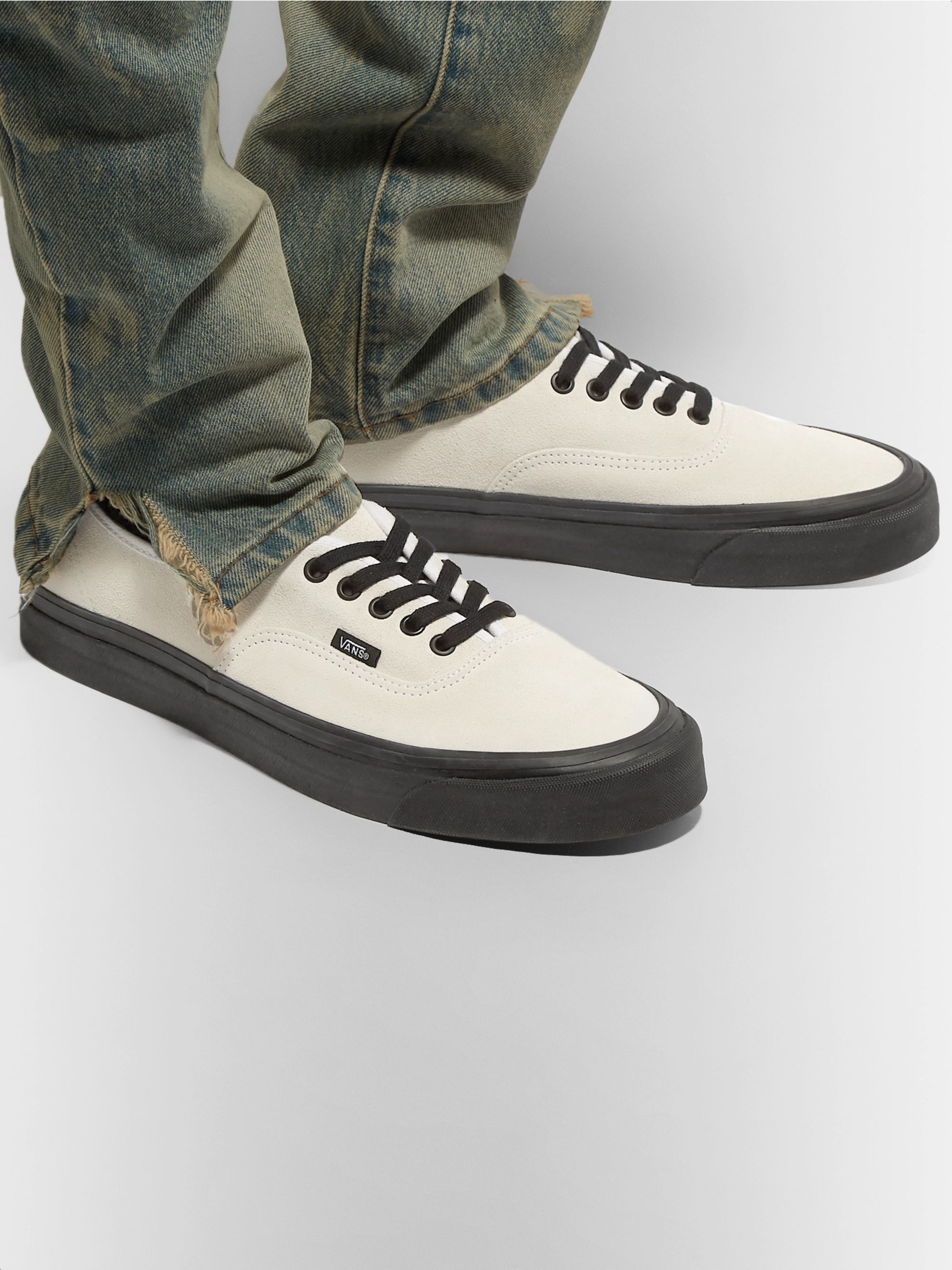 And White Checkerboard Authentic Sneakers