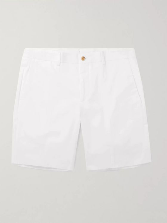 Ralph Lauren Purple Label Knightsbridge Stretch-Cotton Shorts