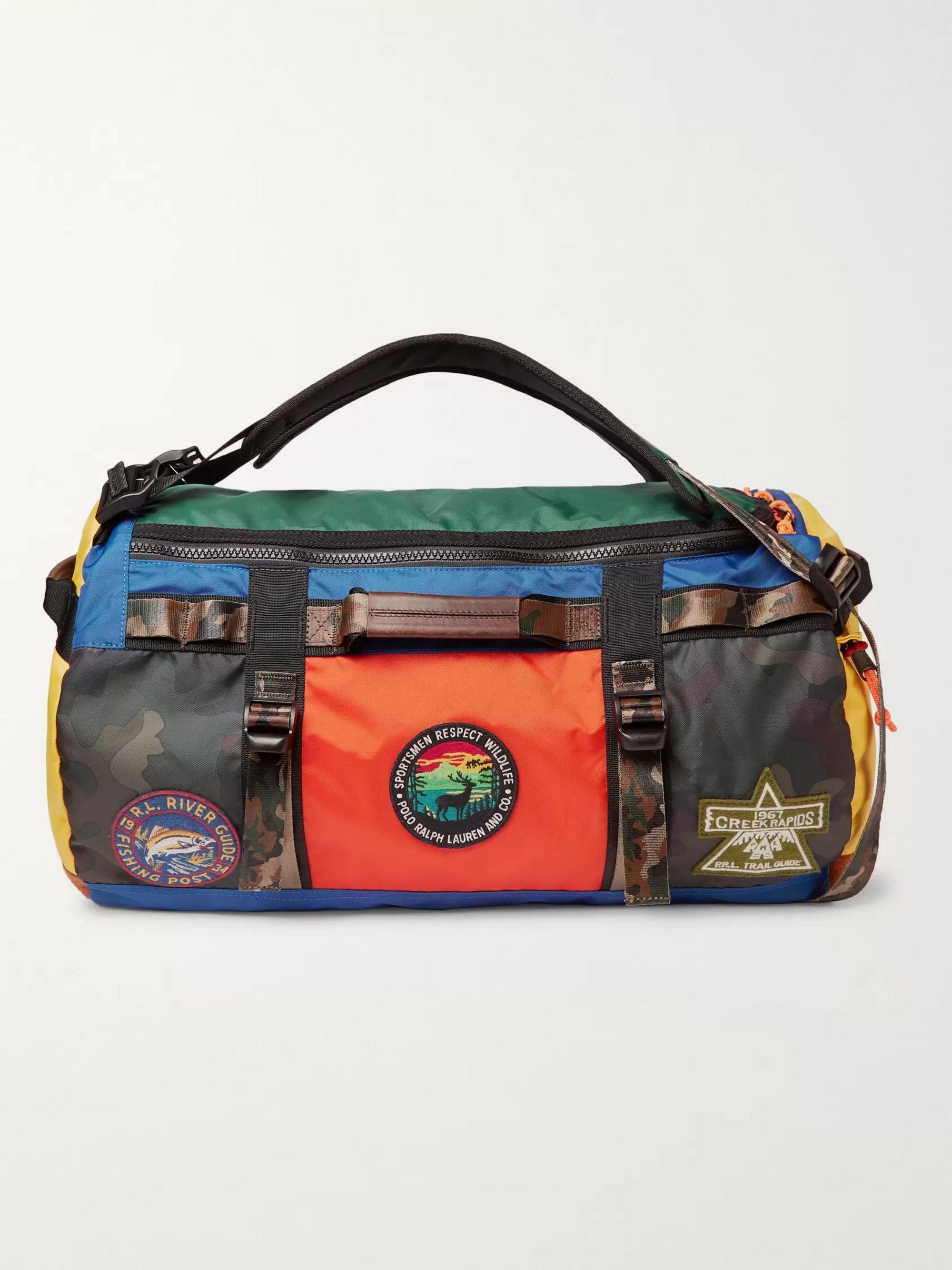 Colour Block Nylon Duffle Bag