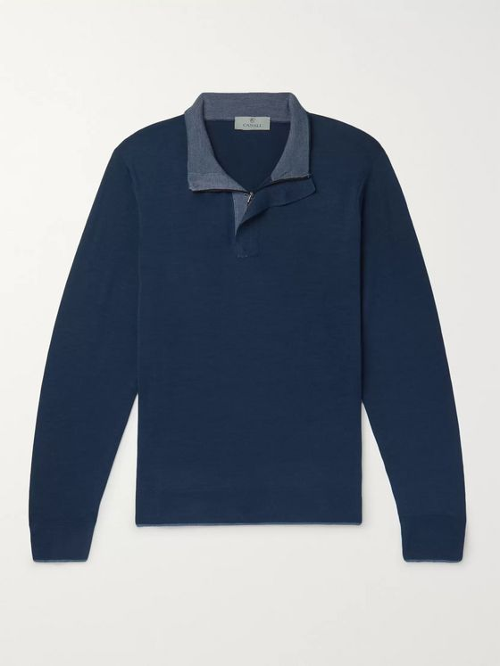 Canali Wool Half-Zip Sweater