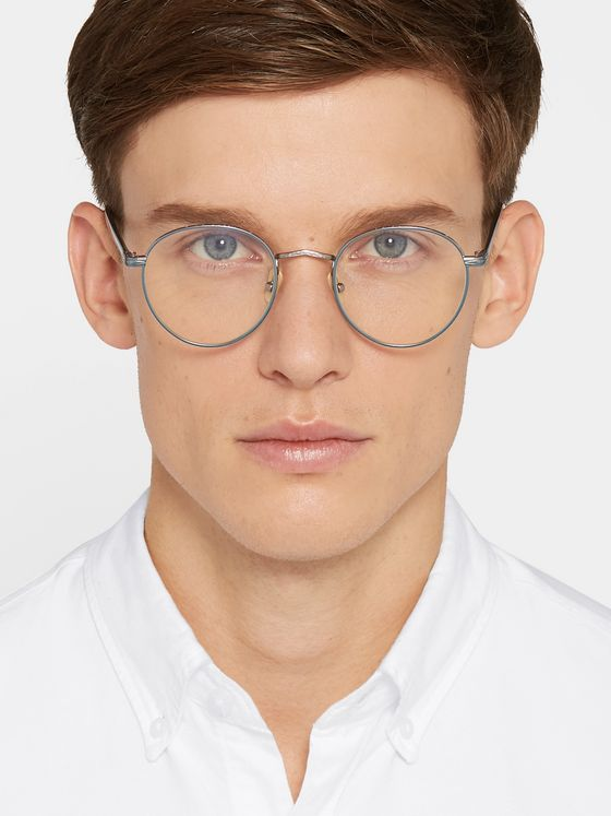 Moscot Zis Round-Frame Acetate and Silver-Tone Optical Glasses