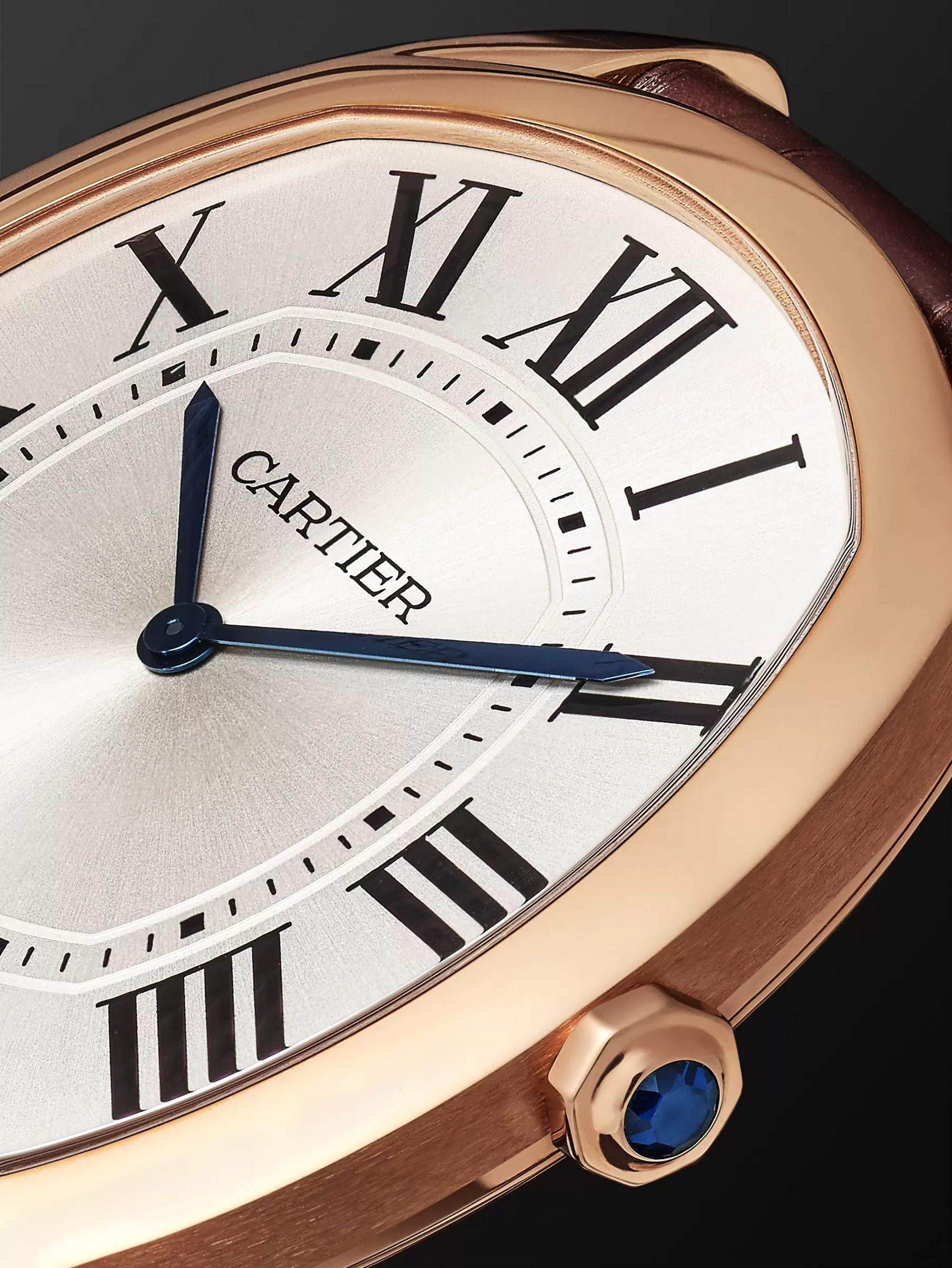 Cartier Drive de Cartier 18-Karat Pink Gold and Alligator Watch, Ref. No. CRWGNM0006