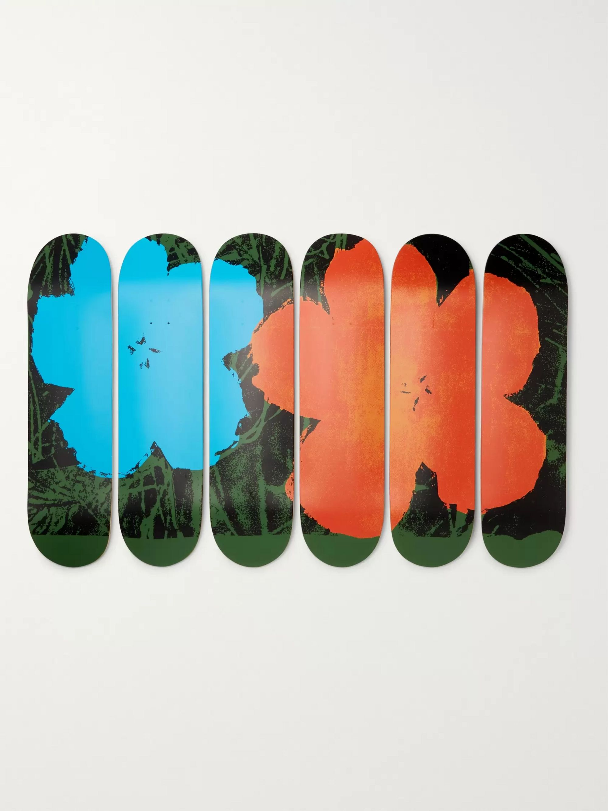 The SkateRoom + Andy Warhol Set of Six Printed Wooden Skateboards