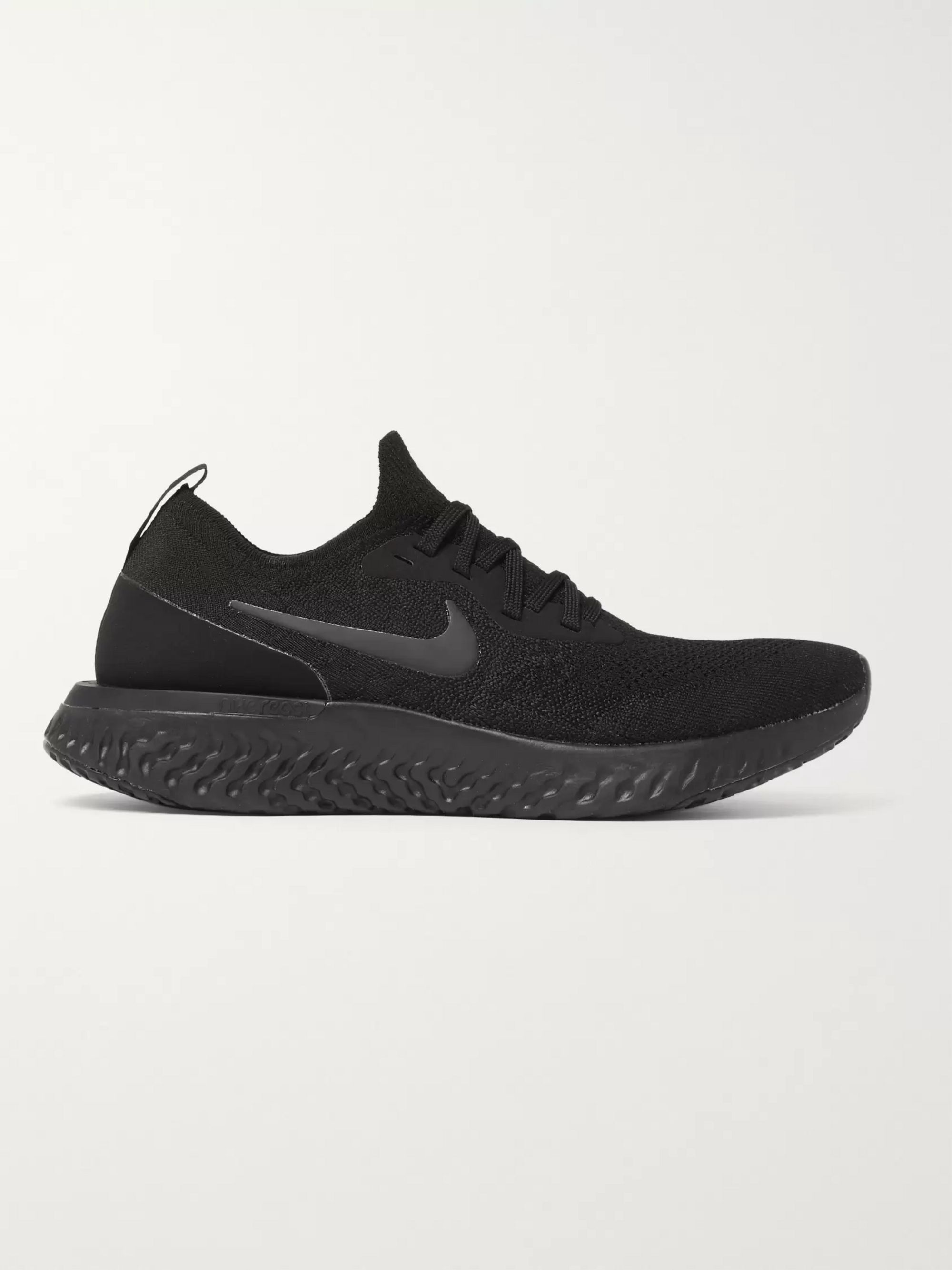 Nike Running Epic React Rubber-Trimmed Flyknit Running Sneakers