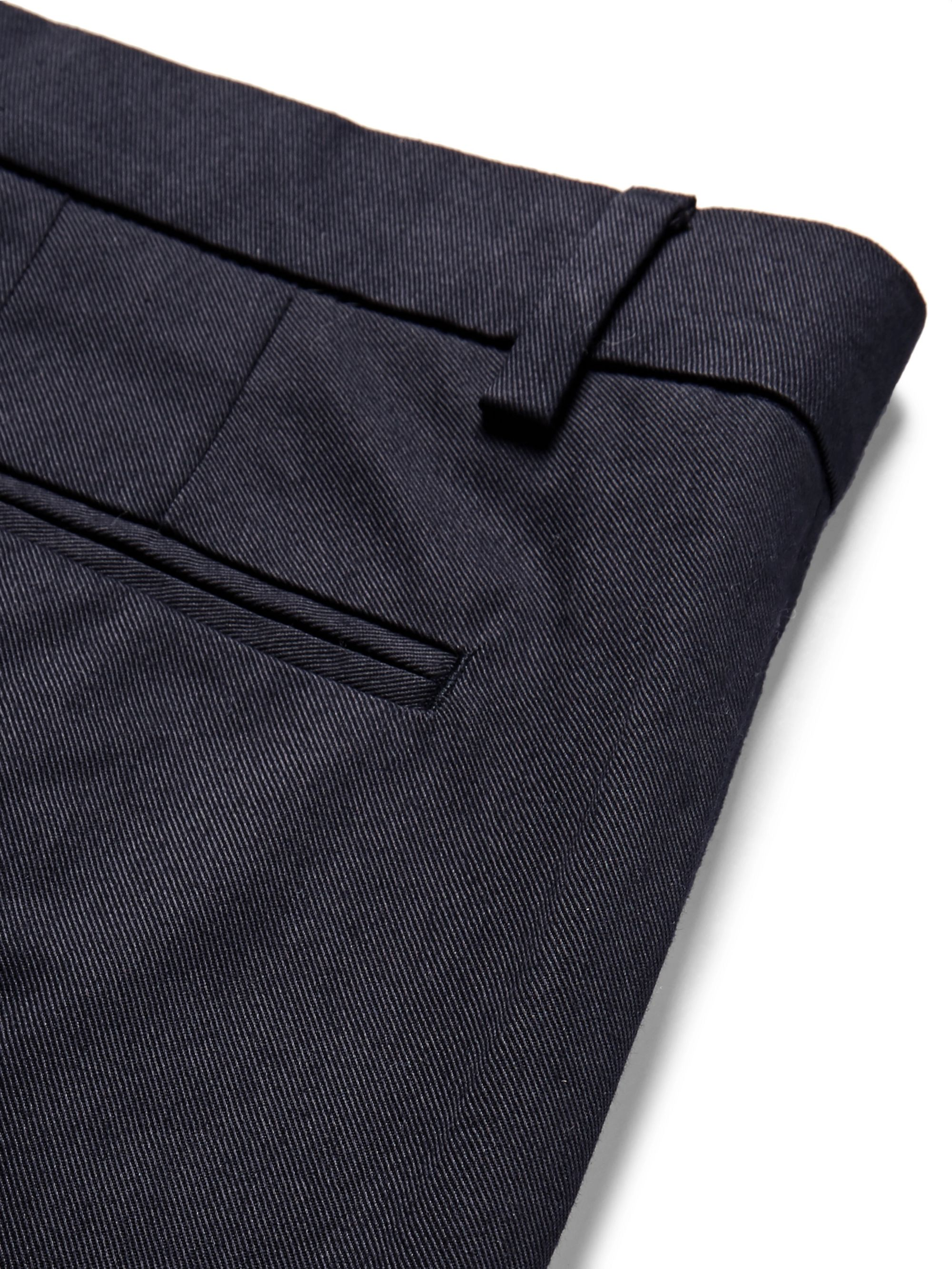 SALLE PRIVÉE Aubin Pleated Cotton-Twill Trousers