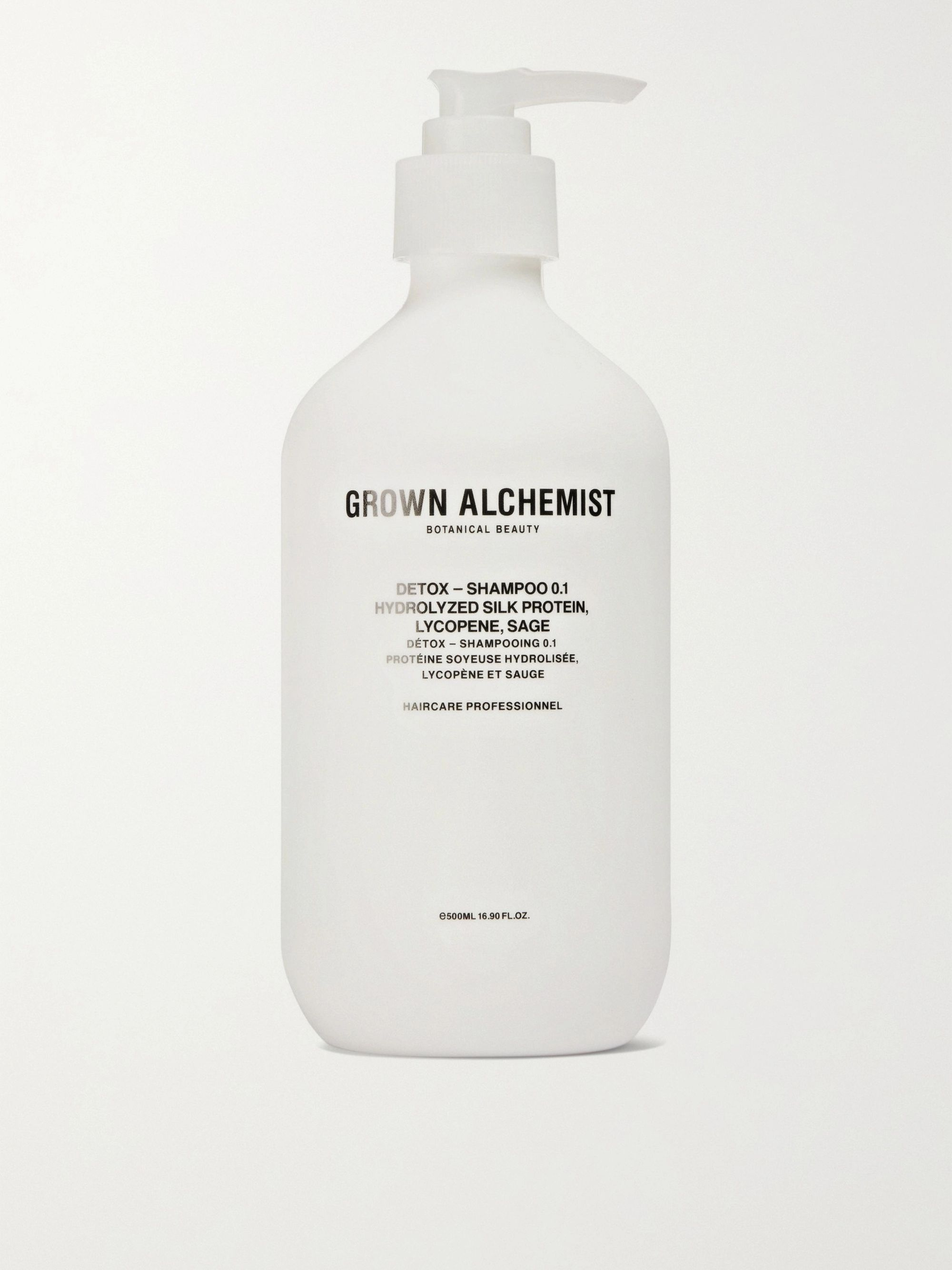 GROWN ALCHEMIST Detox Shampoo 0.1 - Hydrolysed Silk Protein, Black Pepper & Sage, 500ml