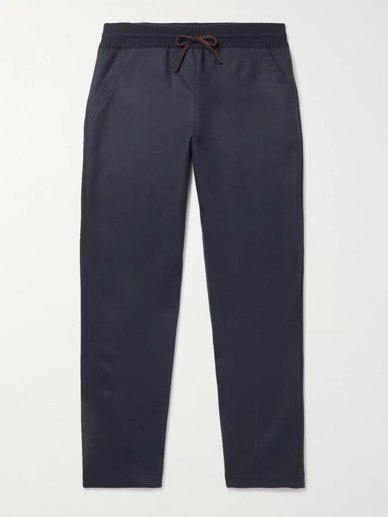 Loro Piana Slim-Fit Tapered Stretch-Cashmere Sweatpants