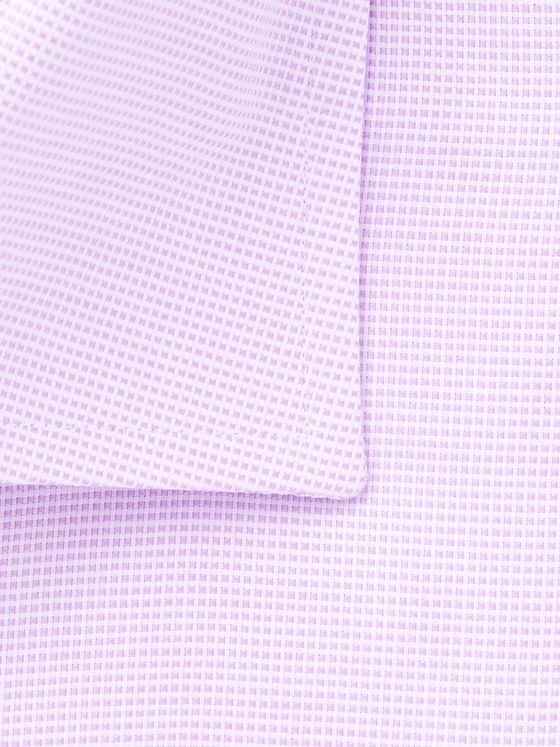 Canali Lilac Pin-Dot Cotton-Jacquard Shirt