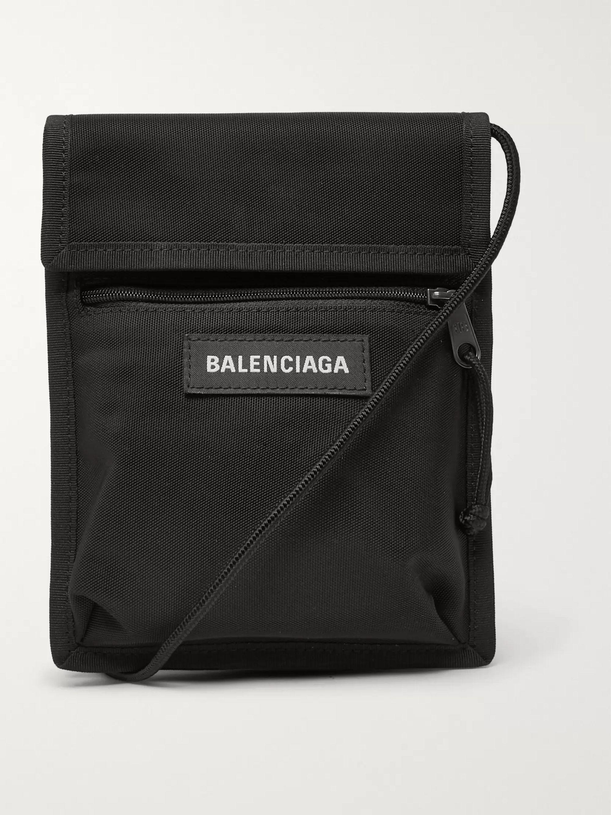 발렌시아가 Balenciaga Explorer Canvas Messenger Bag,Black