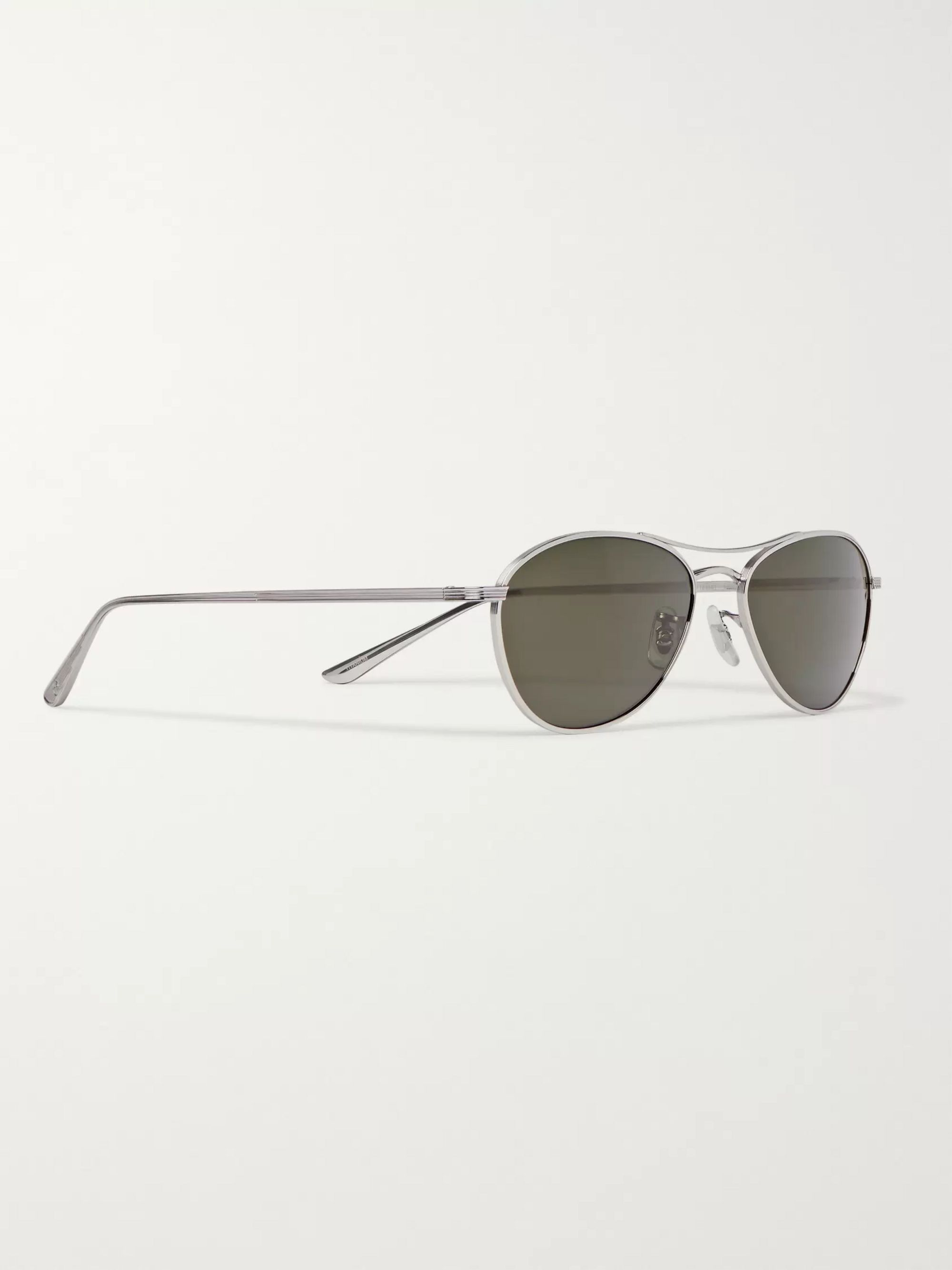 The Row + Oliver Peoples Aero LA Square-Frame Silver-Tone Titanium Sunglasses