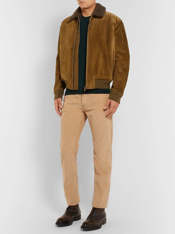 Berluti Cotton and Cashmere-Blend Corduroy Trousers