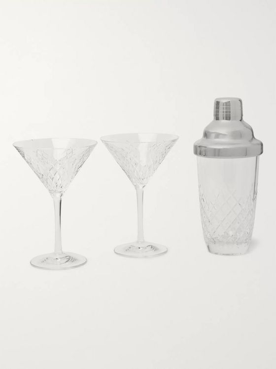 Soho Home Barwell Cut Crystal Martini Set