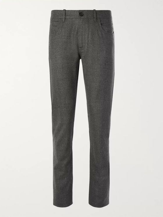 Canali Virgin Wool-Flannel Trousers