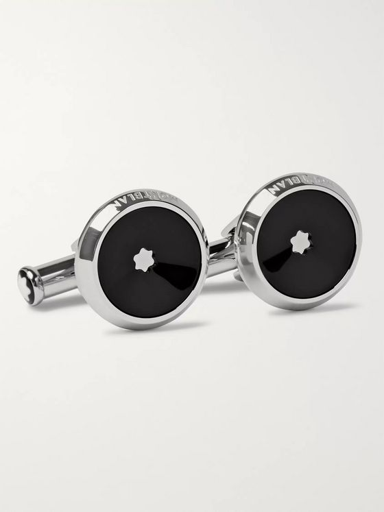 Montblanc Stainless Steel Resin Cufflinks