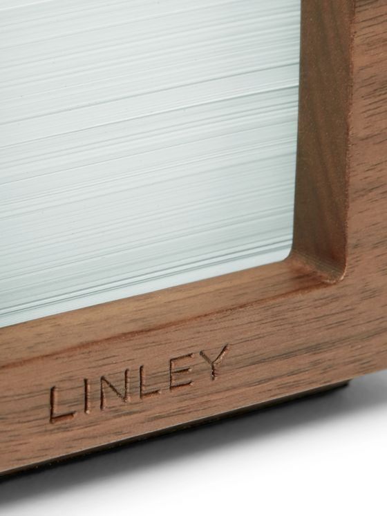 Linley Tambour Walnut Note Holder