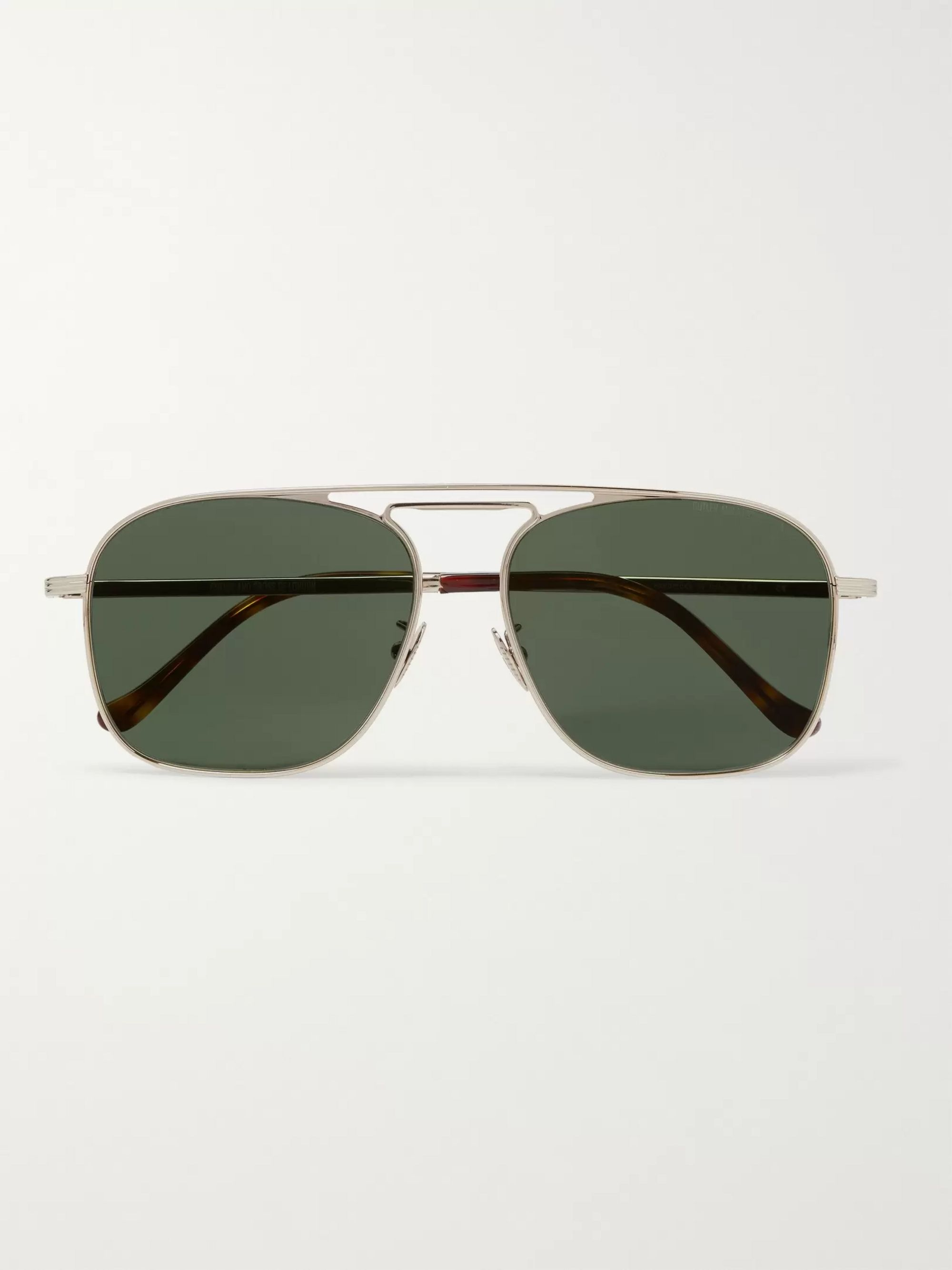 Cutler and Gross Aviator-Style Gold-Tone Sunglasses