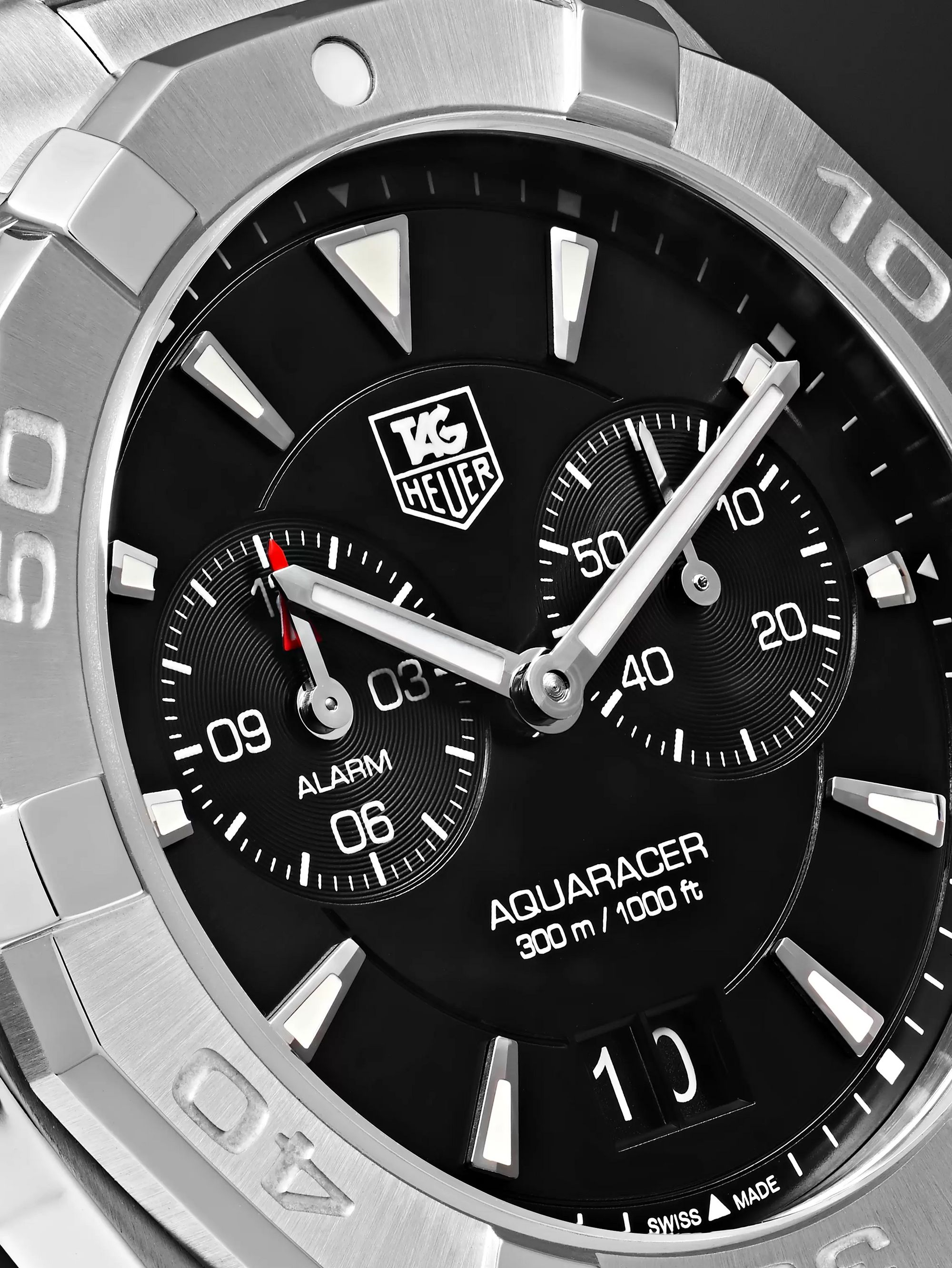 TAG Heuer Aquaracer Alarm Quartz 40.5mm Steel Watch, Ref. No. WAY111Z.BA0928