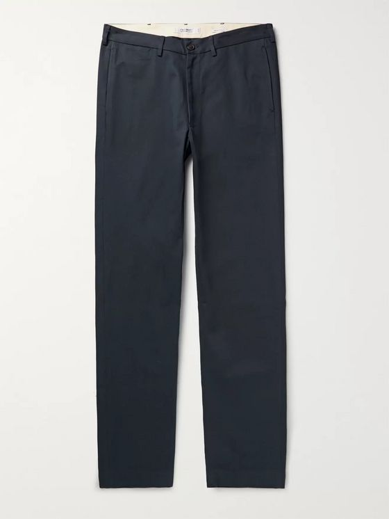Freemans Sporting Club Storm-Blue Cotton-Twill Chinos