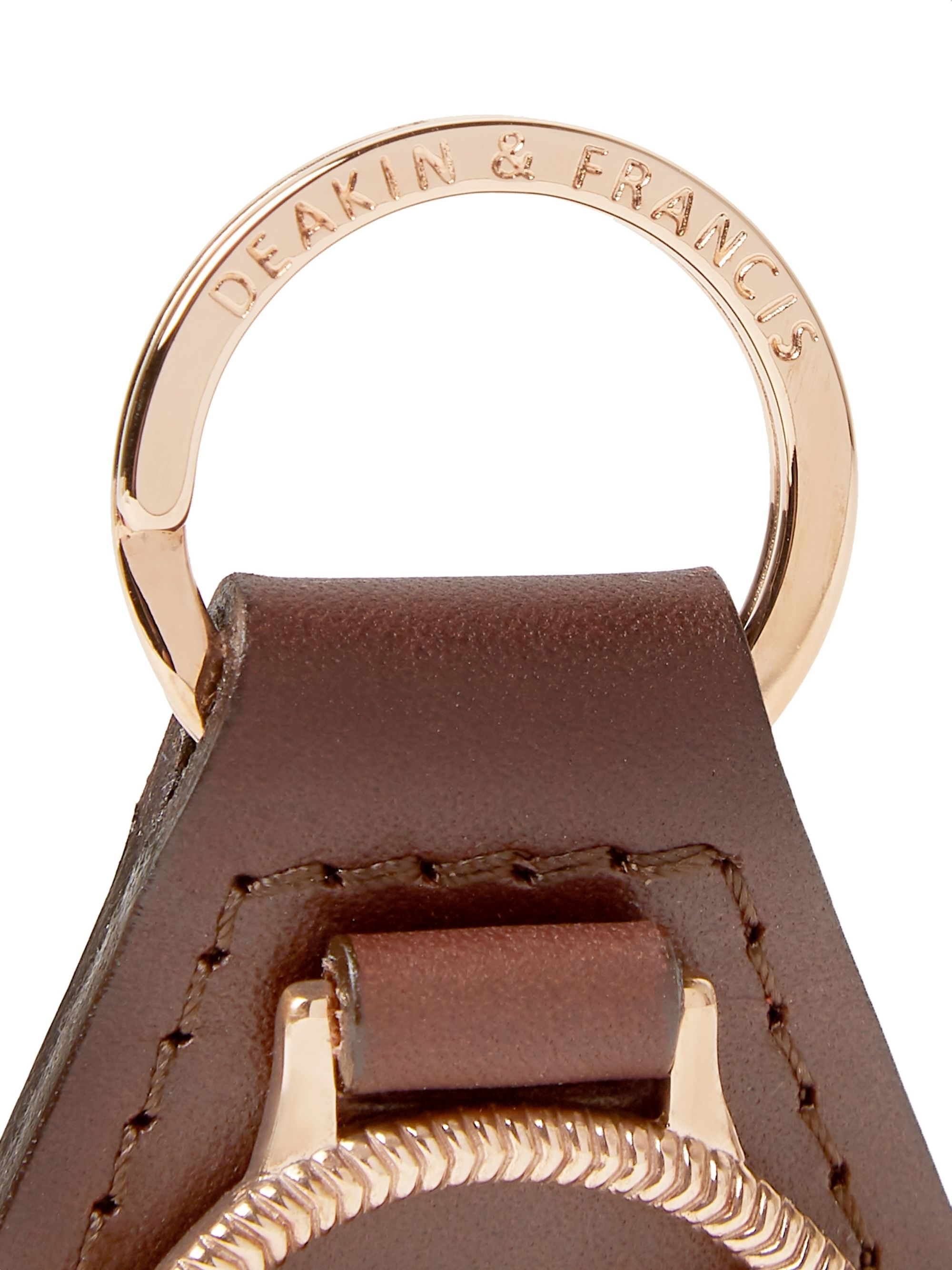 Kingsman + Deakin & Francis Leather and Rose Gold-Plated Key Fob