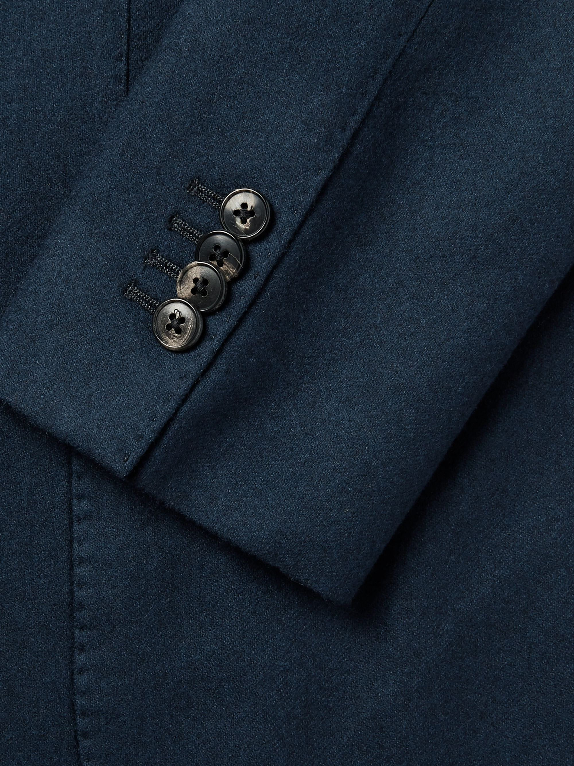 Boglioli Navy K-Jacket Slim-Fit Garment-Dyed Felted Wool Blazer