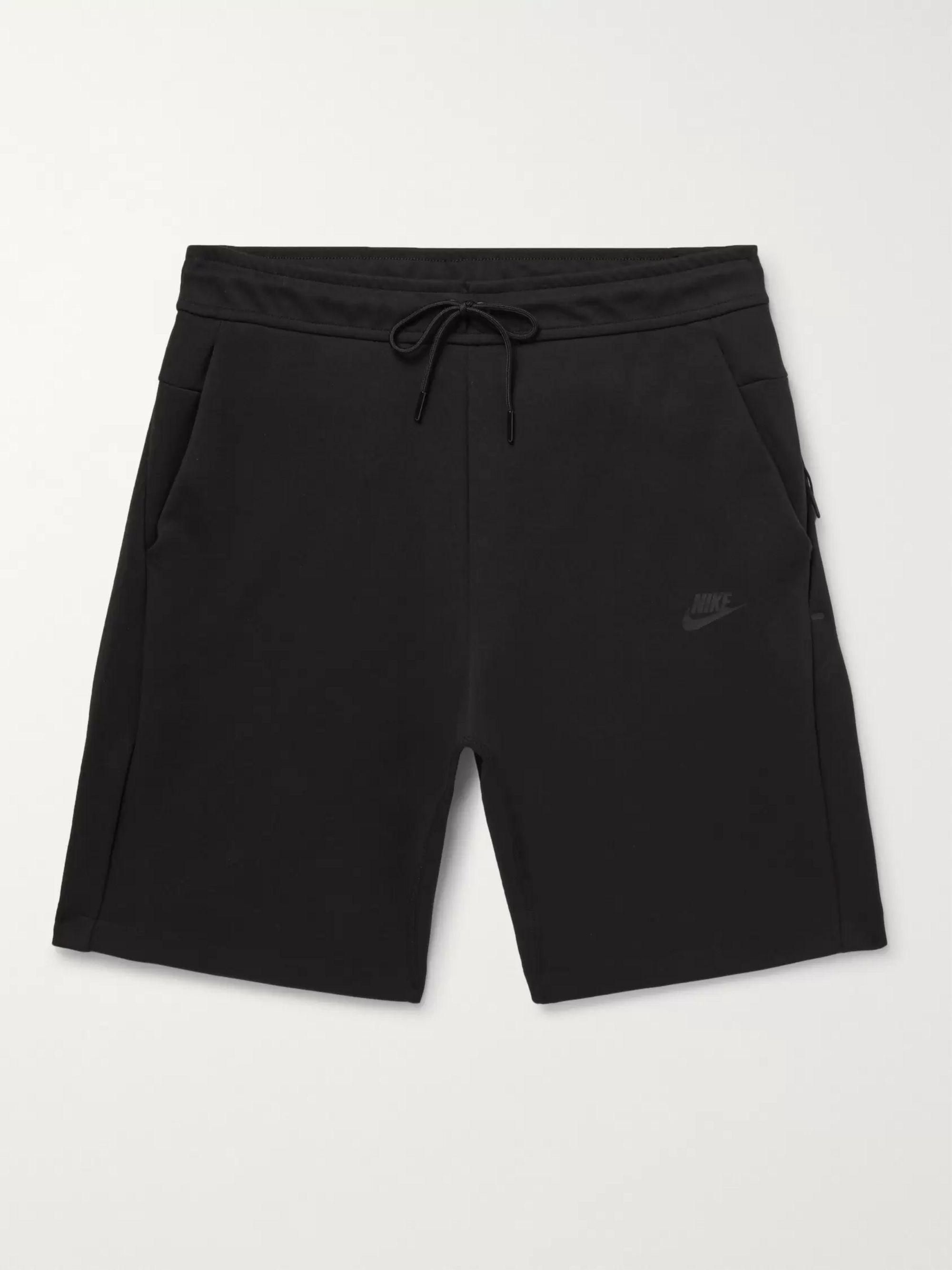 Cotton Blend Tech Fleece Shorts