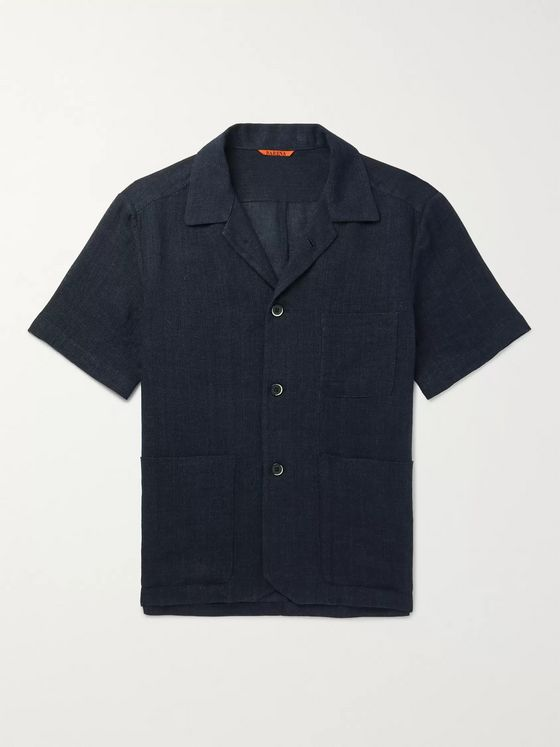 Barena Camp-Collar Linen and Cotton-Blend Shirt