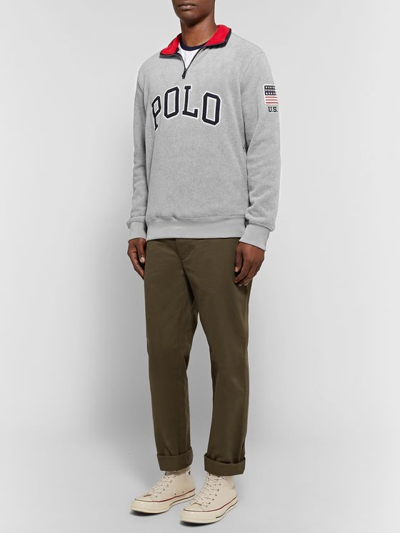 Polo Ralph Lauren Logo-Appliquéd Fleece Half-Zip Sweatshirt