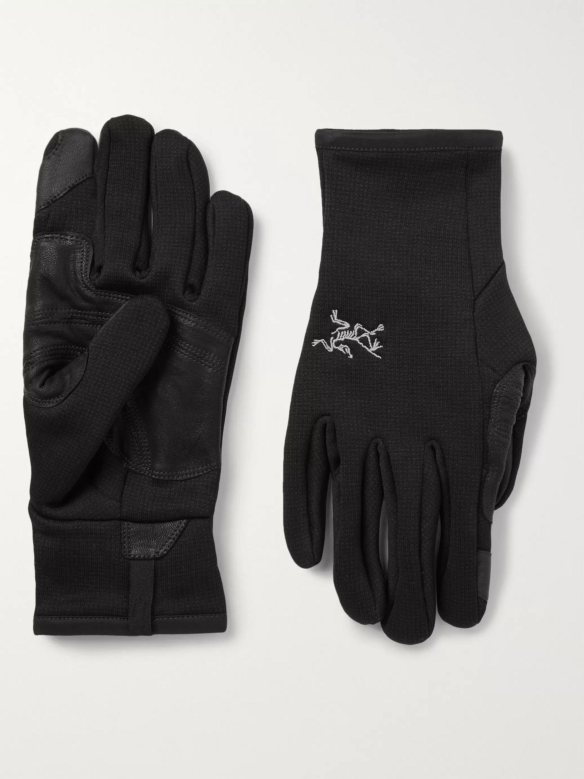 아크테릭스 터치스크린 폴라텍 장갑 ArcTeryx Rivet Touchscreen Polartec Power Stretch Fleece Gloves,Black