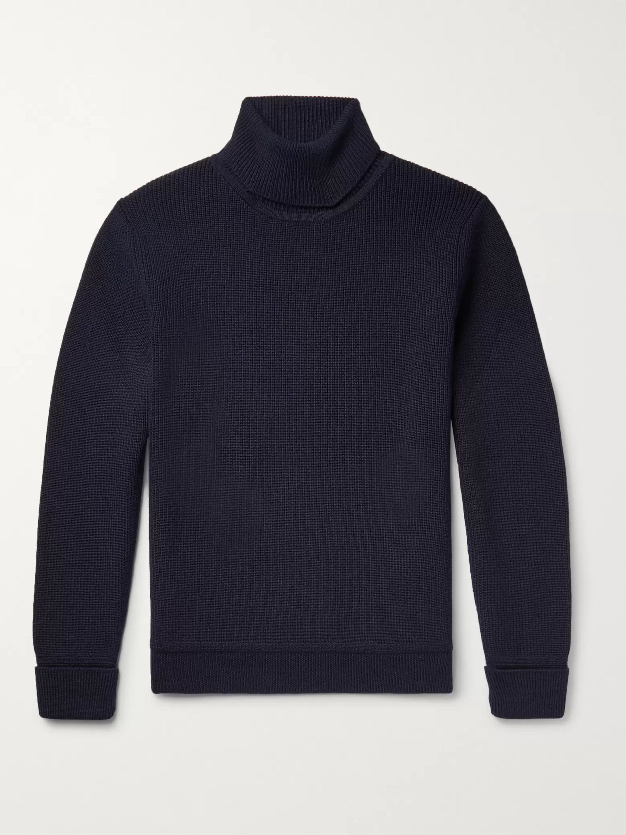SALLE PRIVÉE Art Ribbed Virgin Wool Rollneck Sweater