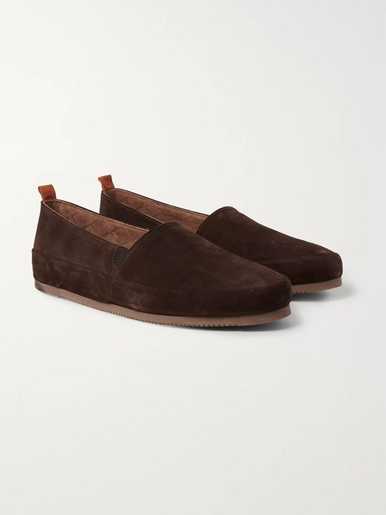 Mulo Shearling-Lined Suede Slippers