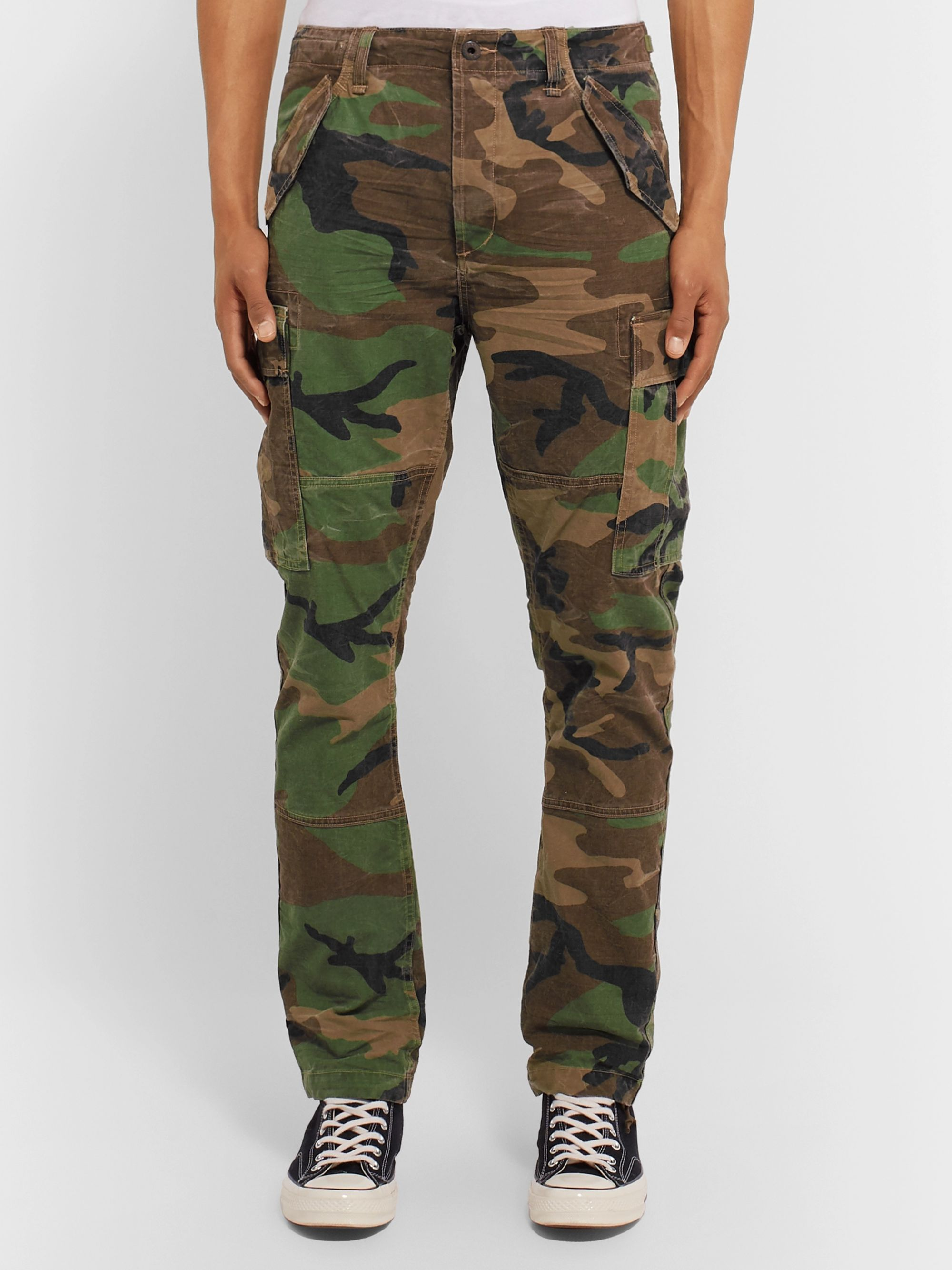 Polo Ralph Lauren Slim-Fit Camouflage-Print Cotton-Twill Cargo Trousers