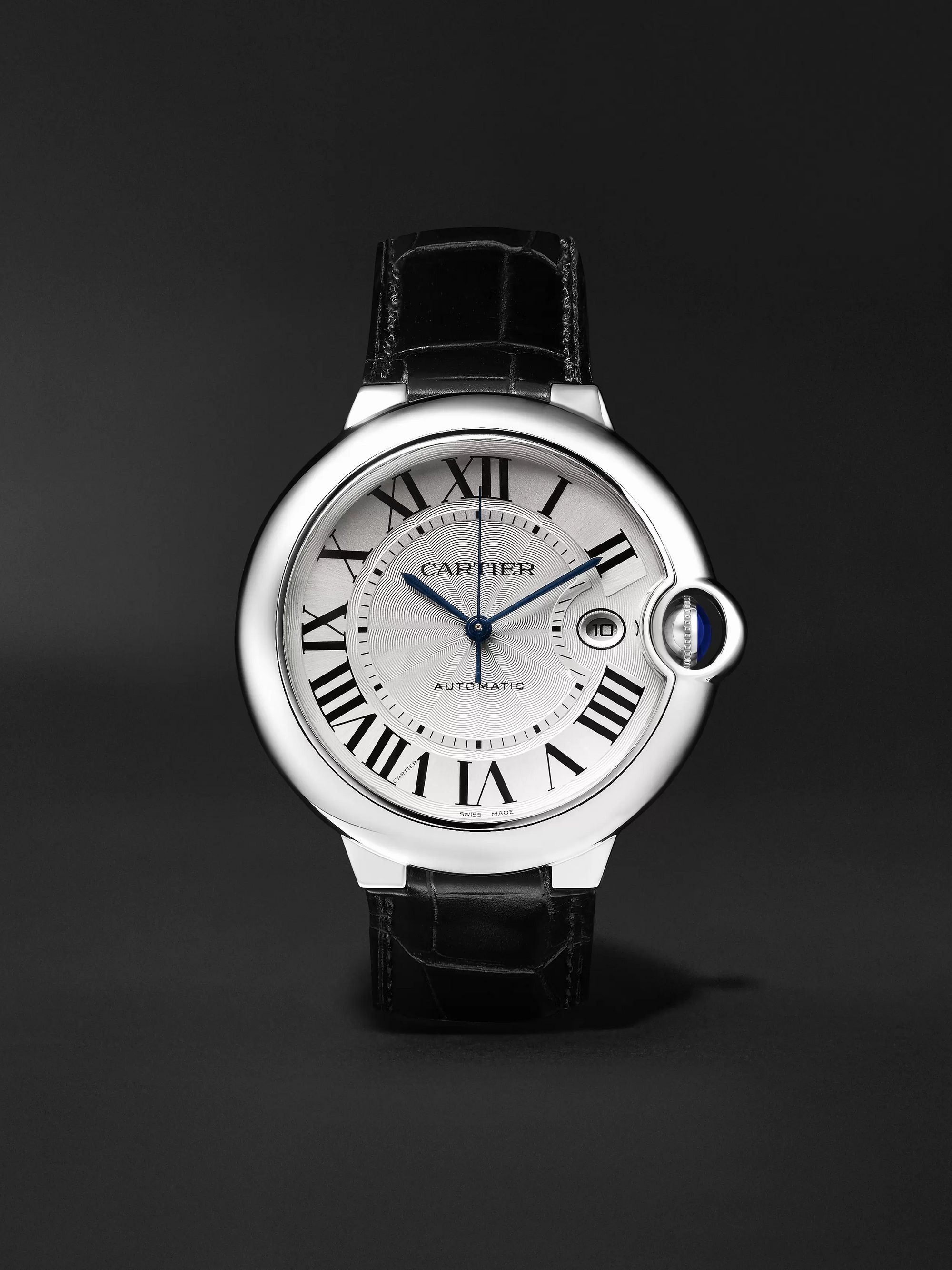Cartier Ballon Bleu Automatic 42mm Stainless Steel and Alligator Watch, Ref. No. CRW69016Z4