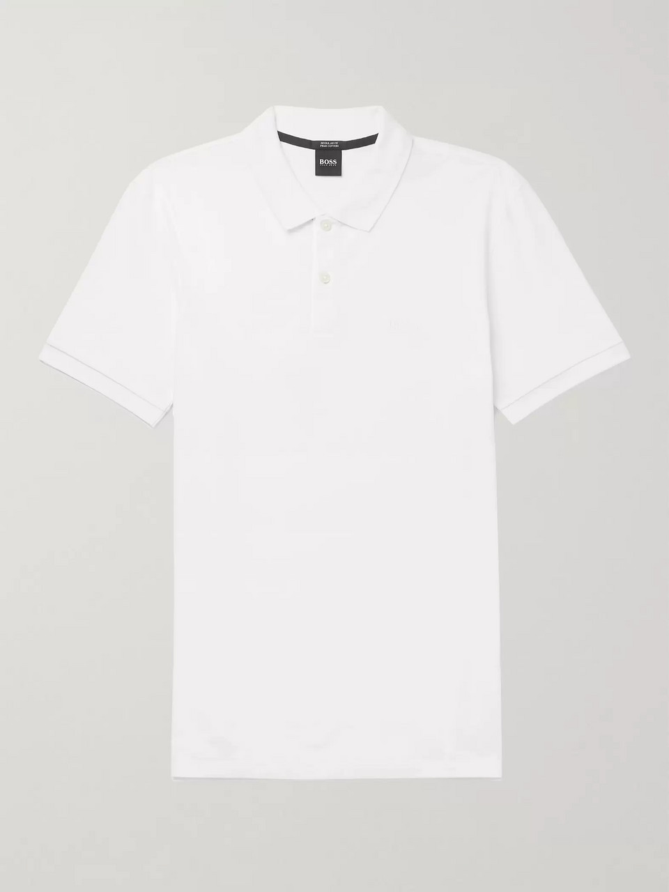 8127b6bc4 White Pallas Cotton-Piqué Polo Shirt | Hugo Boss | MR PORTER