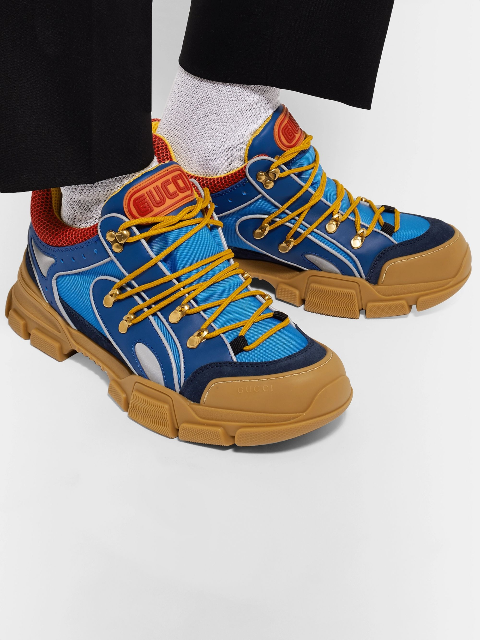 fd6a5085fba Flashtrek Rubber, Leather, Mesh and Suede Sneakers