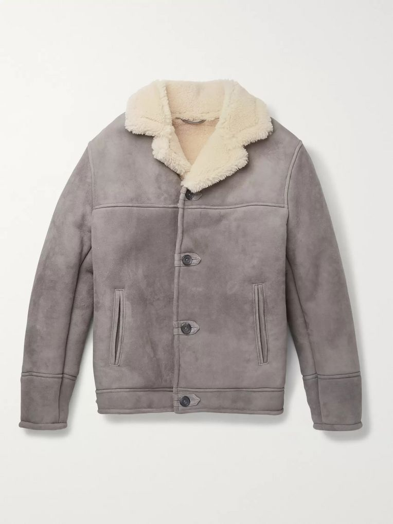 Kingsman Statesman Shearling Jacket