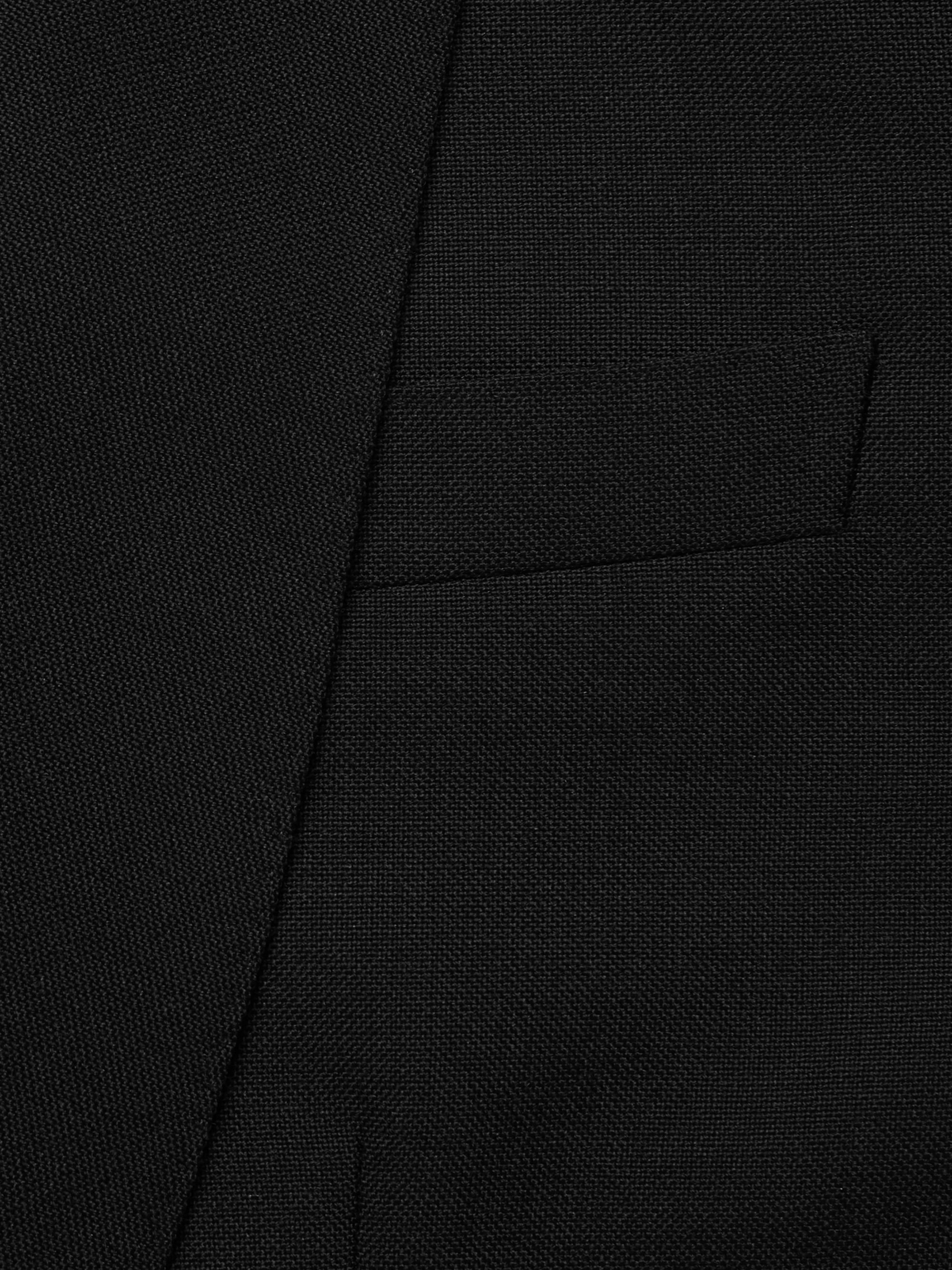 Kingsman Black Slim-Fit Wool and Mohair-Blend Tuxedo Jacket
