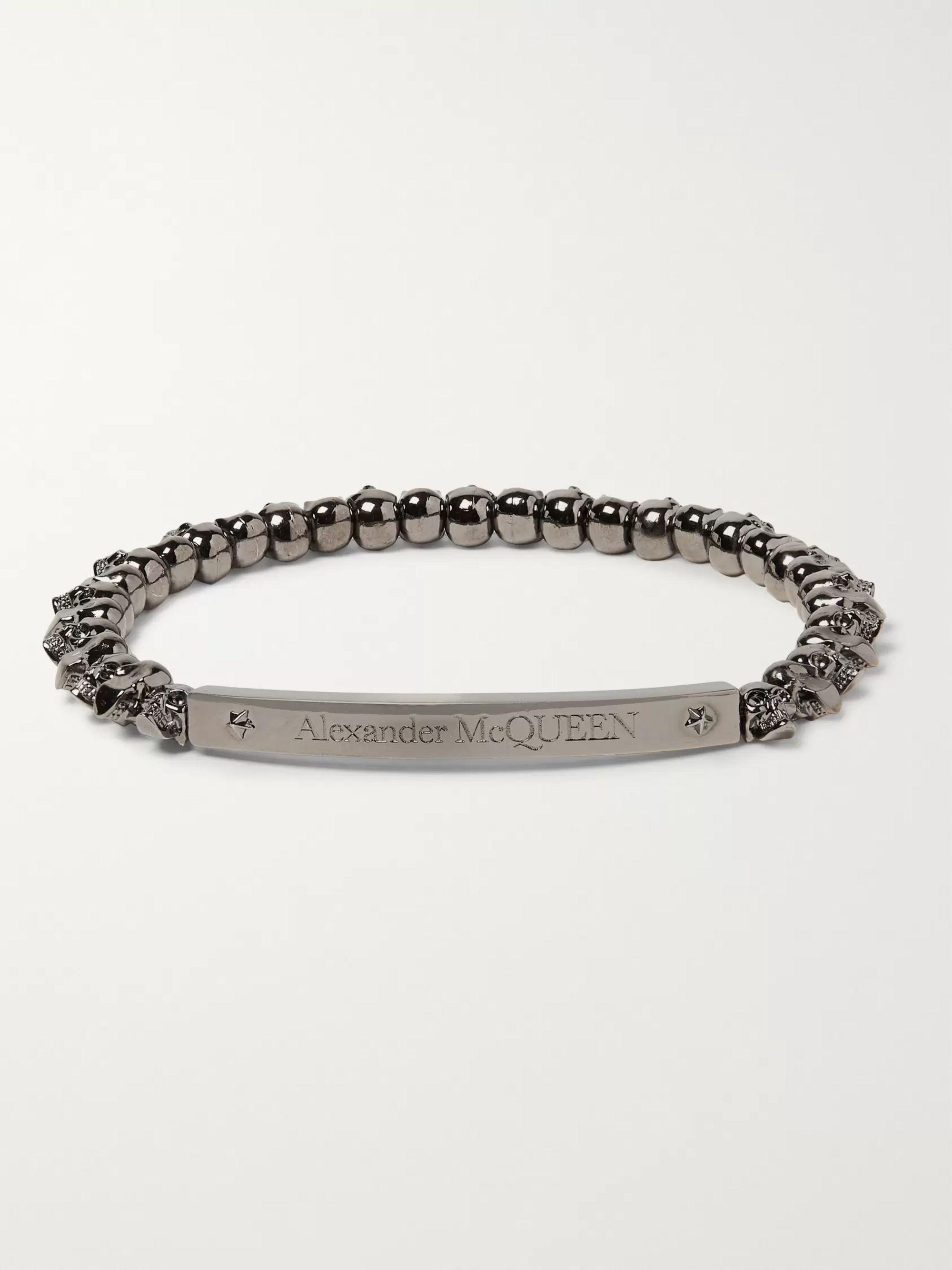 Silver Skull Plated Bracelet