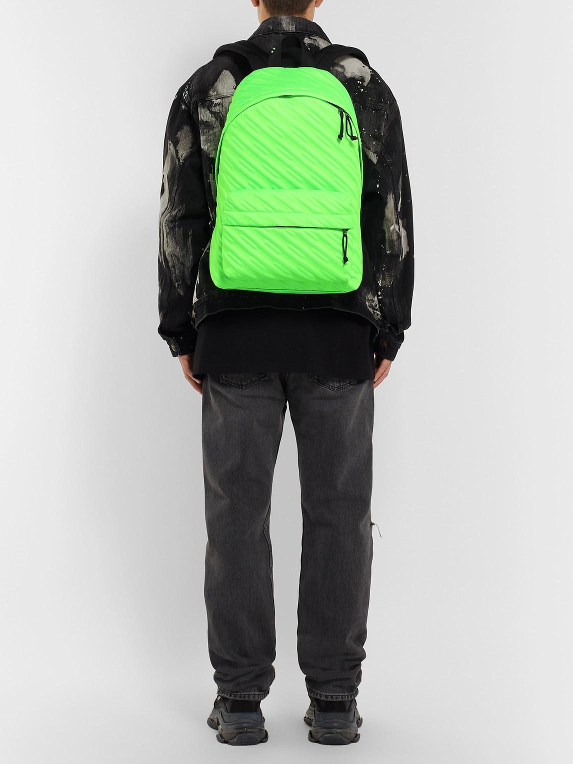 Balenciaga Backpacks EXPLORER QUILTED CANVAS BACKPACK
