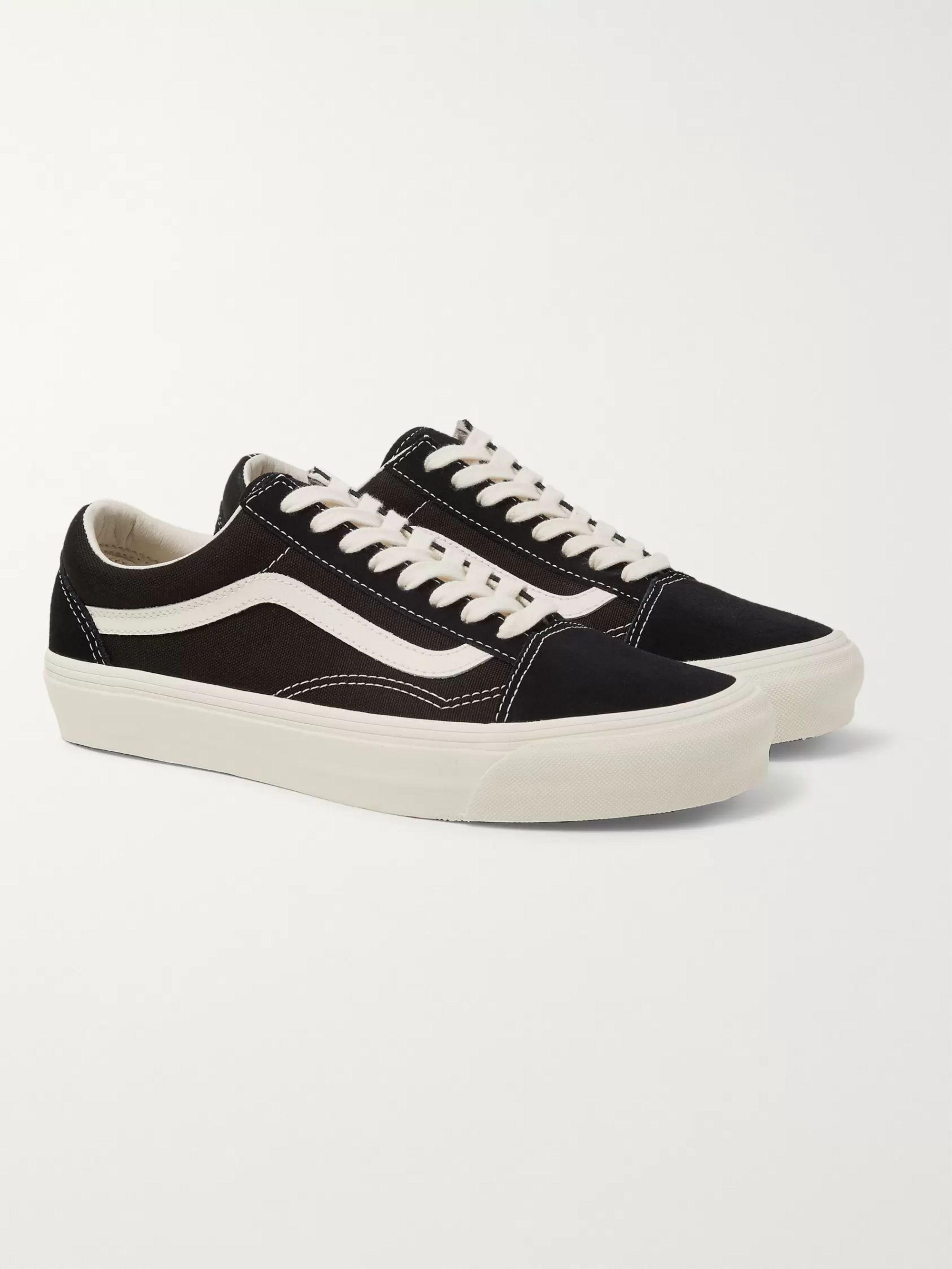 Vans OG Old Skool LX Leather-Trimmed Canvas and Suede Sneakers