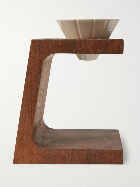 bi.du.haev Wood and Porcelain Pour-Over Coffee Stand