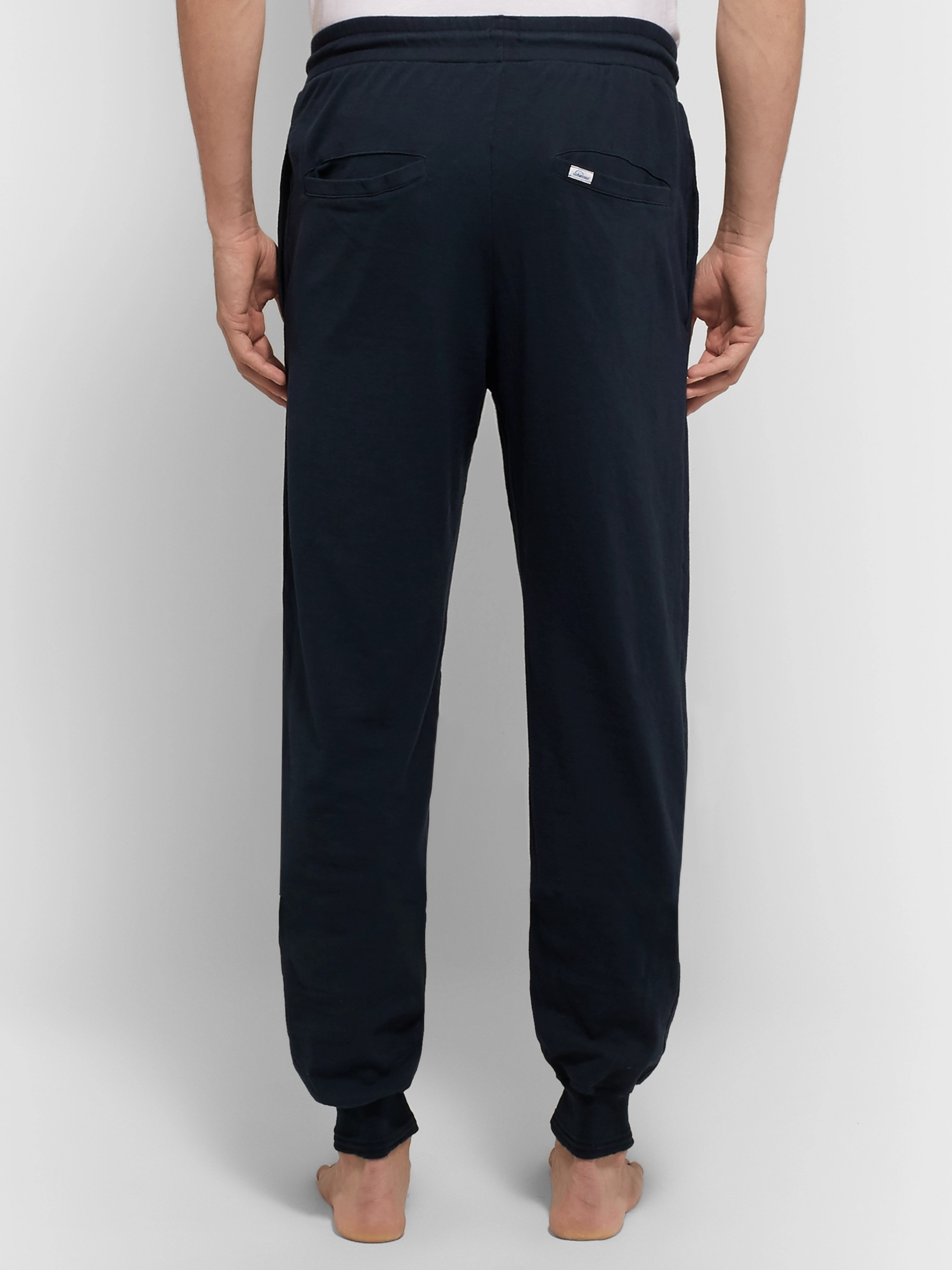 Schiesser Nick Slim-Fit Tapered Cotton-Jersey Sweatpants