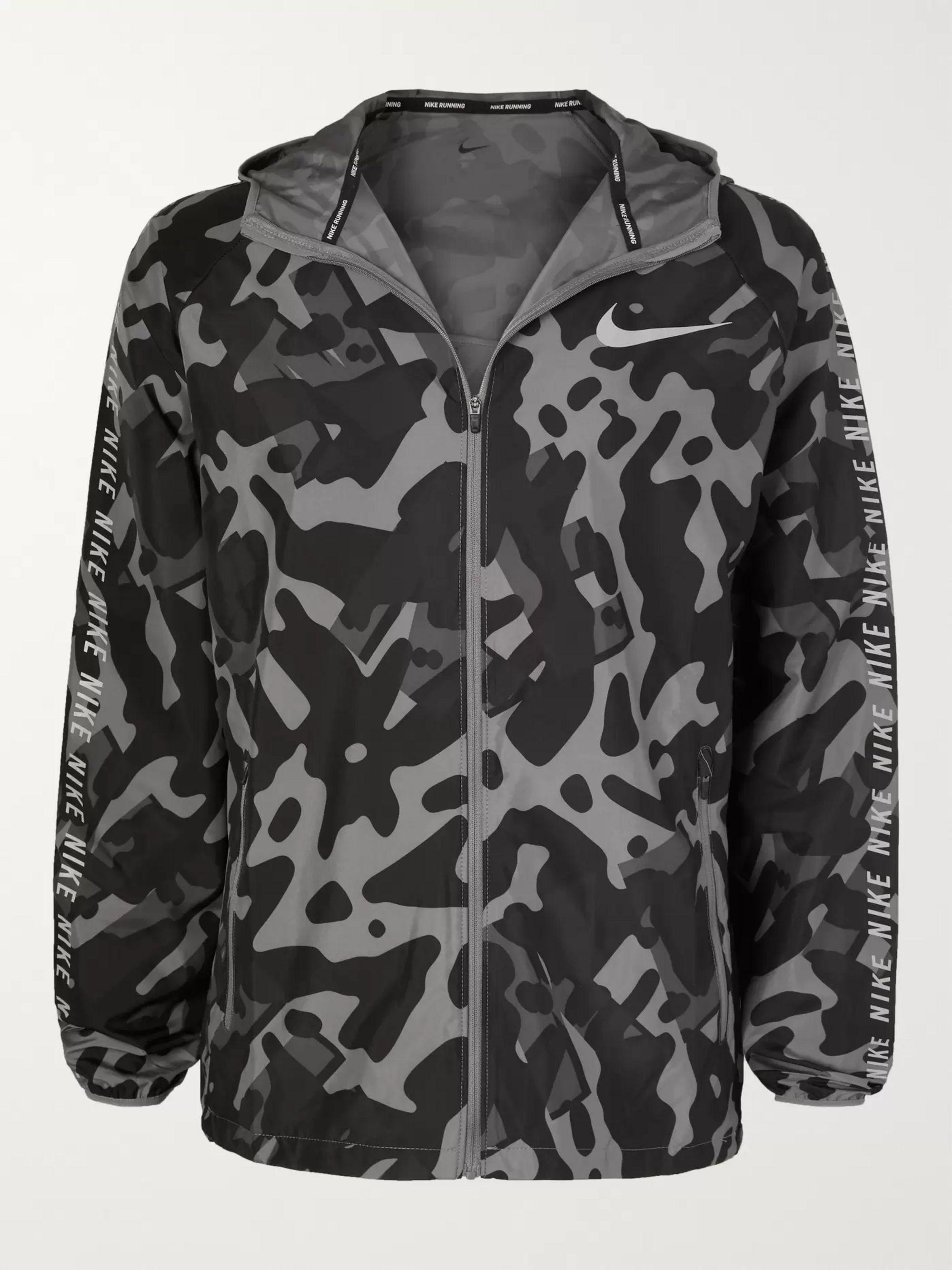 adidas Own the Run Camouflage Jacket herr active orange